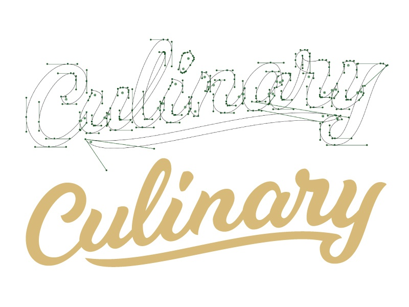 Culinary Script logotype wine food app beziers handles script lettering hand-lettering culinry duck aflac