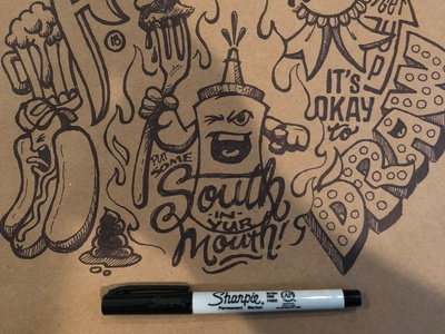 Just for fun Doodles southern illustration lettering sharpie craftpapaper drawing sketching doodles