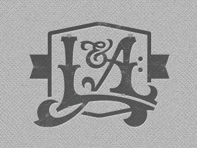 L a monogram