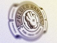 Glued Hands Logo Badge