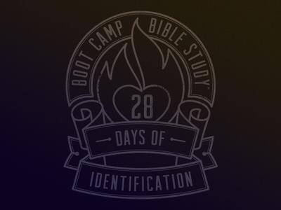Boot Camp Bible Study Badge bible badge bootcamp study truth jodi logo book flame ribbons
