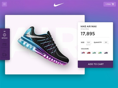 Nike Product Page page website layout interface airmax graphic ui product page nike