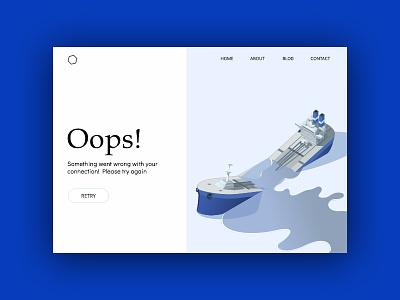 Error UI something went wrong 404 missing page illustration interface ux ui error