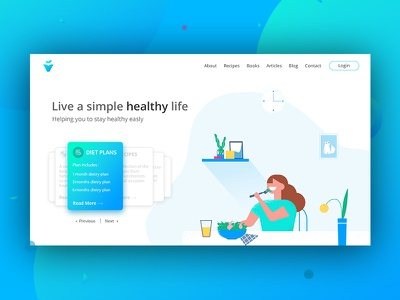 Landing Page fitness nutritionist cards nutrition health landing page