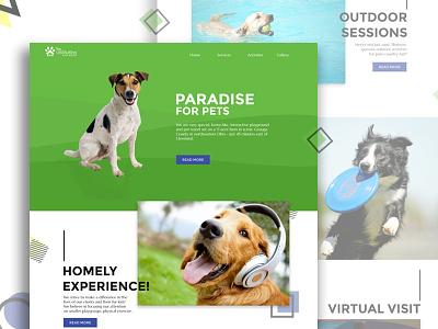 Ultimuttinn & pet resort: Homepage website web uxdesign uidesign ui landing page homepage