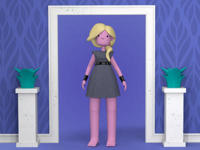 Say hello to Kara characterdesign girl woman c4d cinema 4d cinema4d 3d character design charadesign