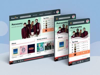 UI Music uxui ui music music responsive webdesign ui metronomy