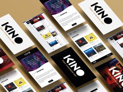 Kino studio brand design newsletter branding cinema movie
