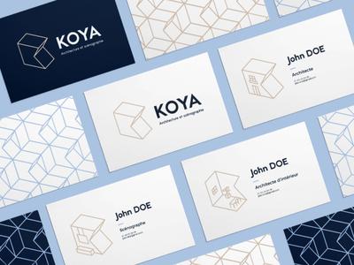Koya Branding isometric design isometric pattern branding architecture logo architecture design architecture design logo