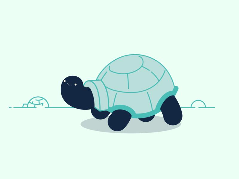 Inktober/Vectober 2019 - #4 Freeze igloo turtle tortoise inktober design vector illustration