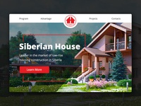 Header Landing Page for Siberian House