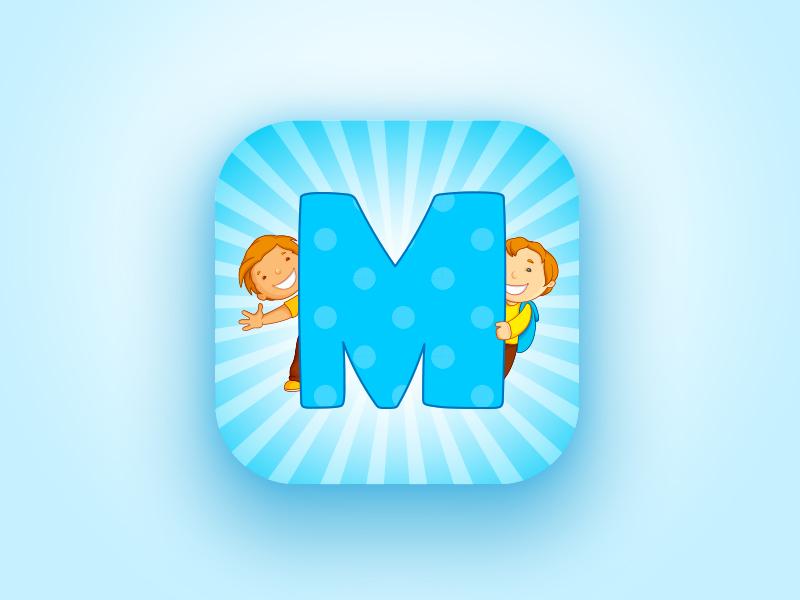 Project icon for children okdigital blue music concerts children logo design icon