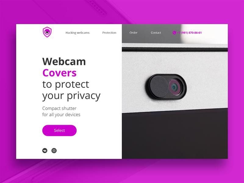 Webcam Cover to protect your privacy webcamcover privacy covers webcam work webdevelop webdesign uiux portfolio okdigital landingpage icon graphicdesign