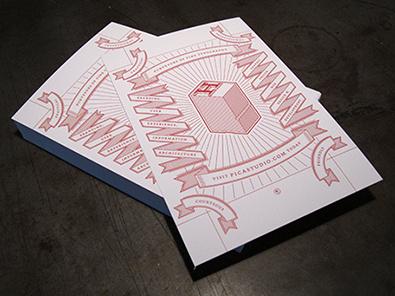 Postcard illustration vector typography ribbon