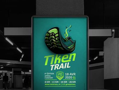 Affiche Tiken Trail 2020 vector art affiche
