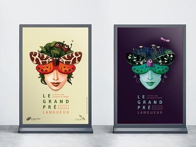 Le Grand Pré 2021-2022 poster vector illustration