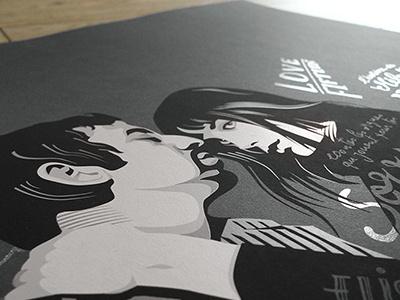 Gainsbourg tribute screenprint vector art screenprint birkin gainsbourg