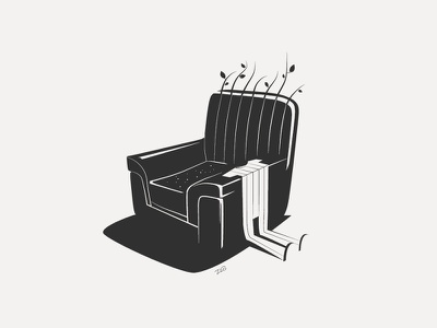 Illustration S'il te plait art armchair illustration
