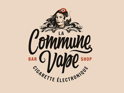 La Commune Vape graphic  design branding brand identity typographie illustration logotype logo