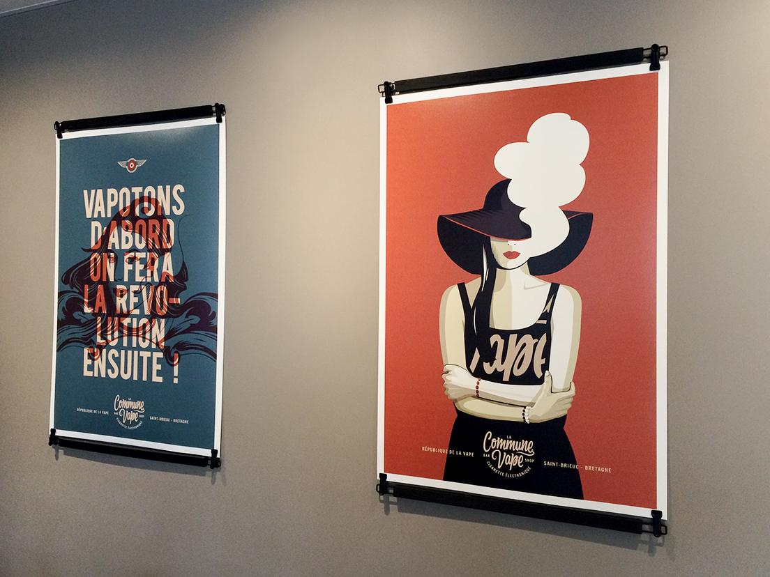 La Commune Vape artwork poster art illustration paper woman poster