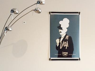 La Commune Vape poster art illustration design men paper artwork poster illustration