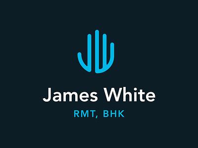 James White registered massage therapist identity rmt design logo