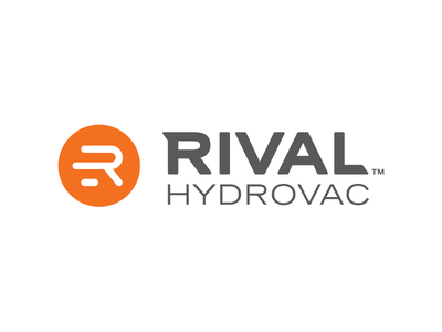 RIval Hydrovac Logo rival hydrovac identity design logo