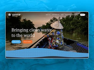 Uzima Website non-profit life africa website uiux web design