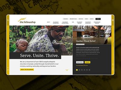 The Fellowship Website toronto website uiux web design