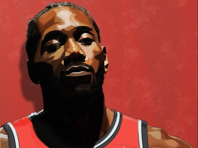 Kawhi design basketball illustration raptors toronto nba leonard kawhi