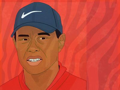 Quick one for 🐯 tiger tiger woods golf vector design illustration