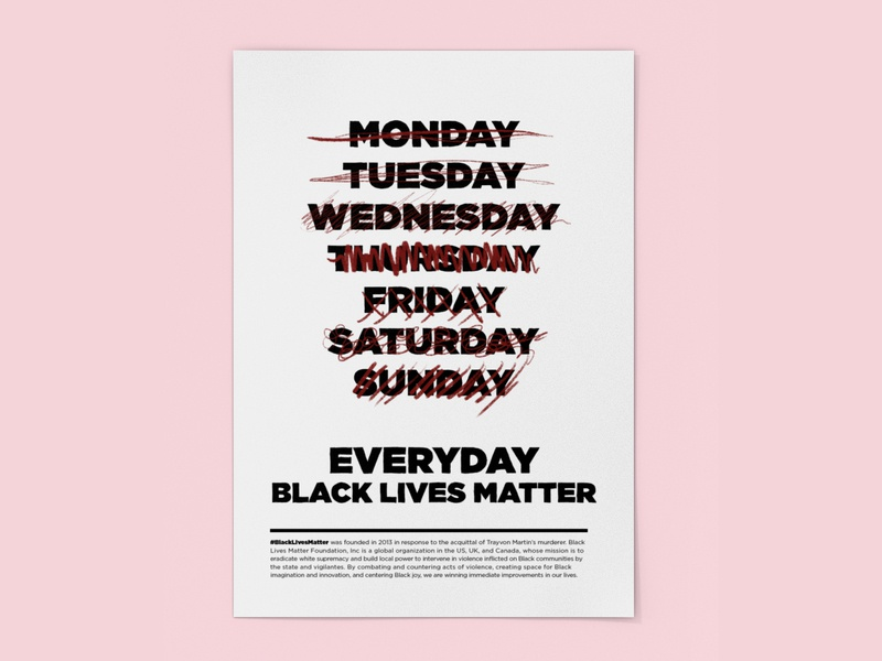 Black Lives Matter everyday branding latinx design vector typography poster blacklivesmatter black lives matter blm