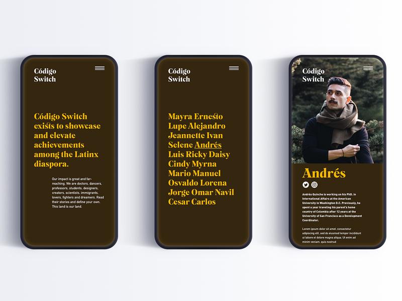 Codigo Switch round 2 ux typography design san francisco branding latinx