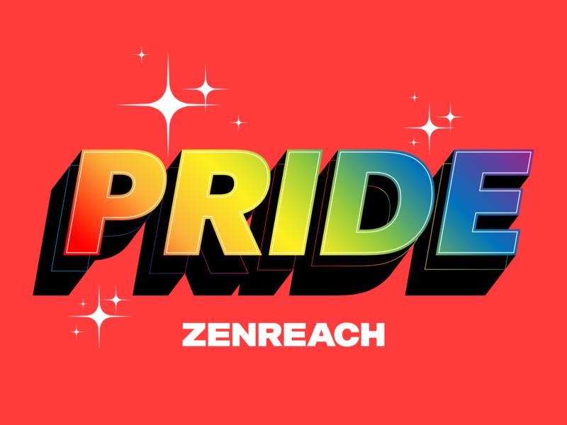 Pride at Zenreach typography san francisco branding pride month pride