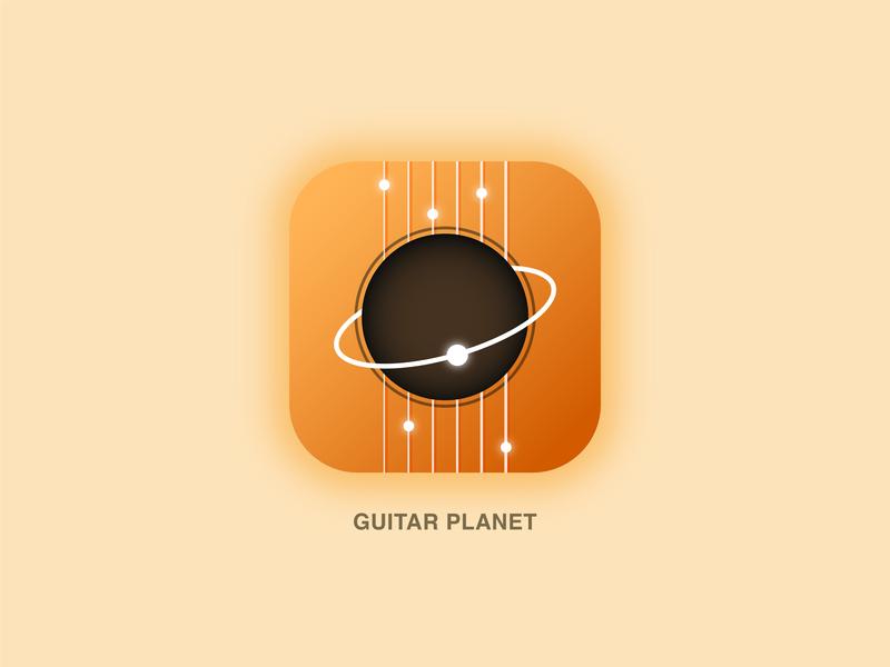 Daily UI Challenge #005|App Icon icon planet guitar ui illustrator appdesign app practice design dailyui
