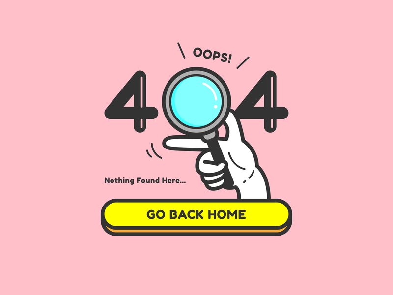 Daily UI Challenge #008|404 Page magnifying glass 404 web ui illustrator practice design dailyui