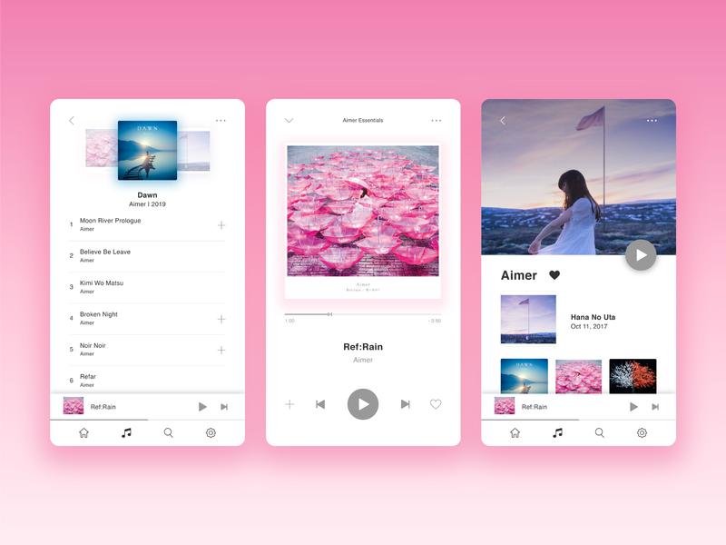 Daily UI Challenge #009|Music Player music appdesign ui app illustrator practice design dailyui