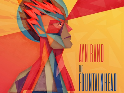 Fountainhead Illustration fountainhead ayn rand howard roark dominique francon architecture book illustration illustrator photoshop triangle angle shapes abstract modern literature colorful sharp angular fragmented building face