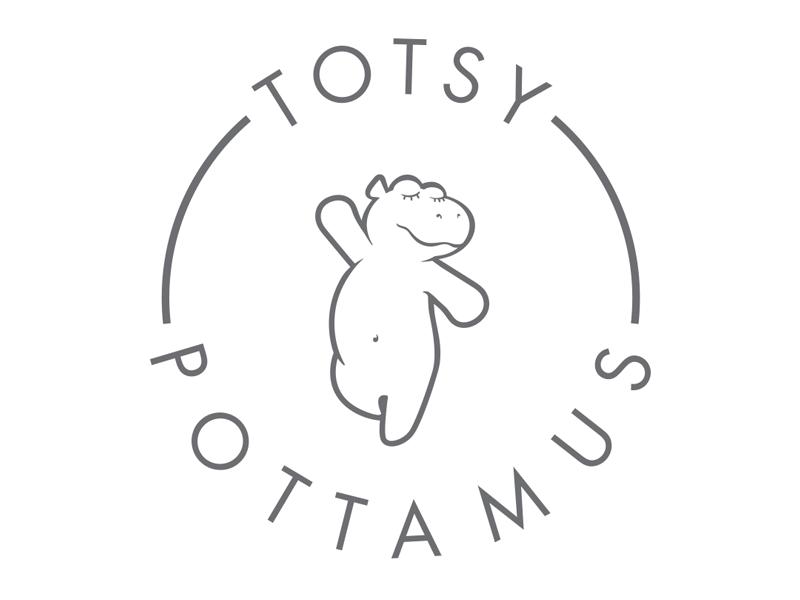 Totsy Pottamus Logo shop etsy hippopotamus clothing dance hippo logo