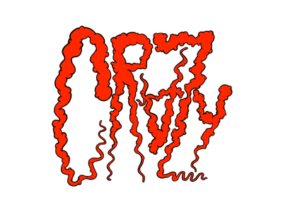 Crazy glob goop lettering hand lettering freestyle friday crazy