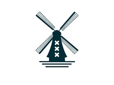 Amsterdam illustration design amsterdam holland dutch windmill