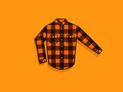 Flannel Season shirts buffalo check plaid autumn orange flannel shirt illustration design