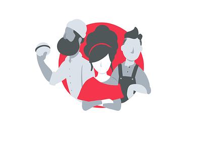 Friends You Trust Minimal branding design illustration recommendations food and drink litlist food app app friends food