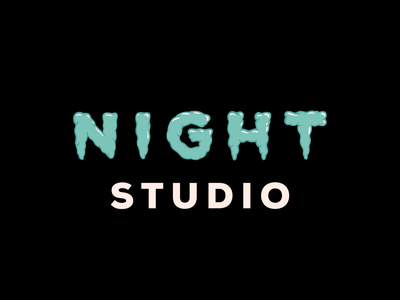 Night Studio: Thrillers and Chillers gross slime lettering branding typography chicago logo design illustration type nightstudio