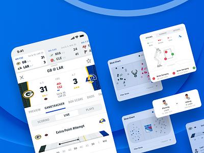 CBS Sports App: Gametracker app mobile interface ux ui sport design