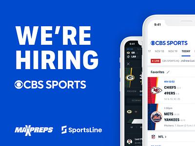 We're Hiring product ux ui sports product designer job listing job sportsline max preps cbs sports hiring