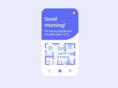 Home monitoring dashboard – Daily UI 021 mobile product design tech floorplan dashboard home notification animation uidesign dailyui 021 daily ui