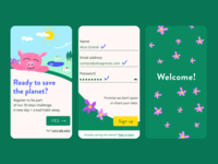 Sign up to save the planet! – Daily UI 001