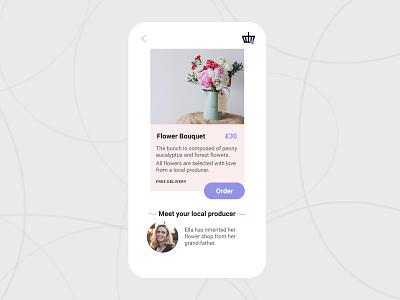 E-commerce page – Daily UI 012 pastel bouquet shop flowershop dailyui012 dailyui order product design ui e-commerce flower