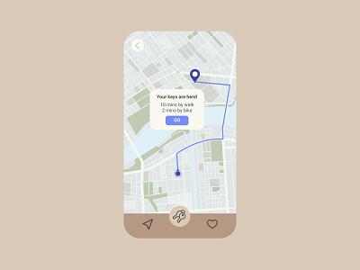 Locator – Daily UI 020 dailyui020 object lost keys locator map product design design flat ui dailyui